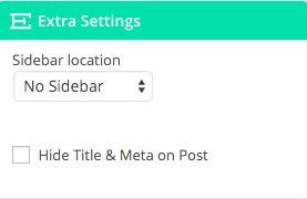 Select sidebar location in extra