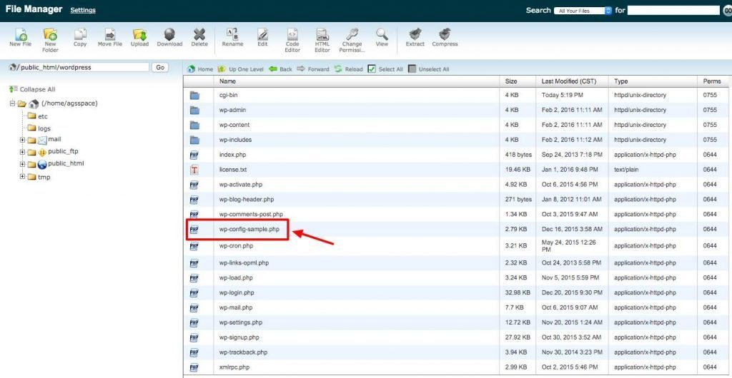 cPanel-File-Manager-sample-config-file