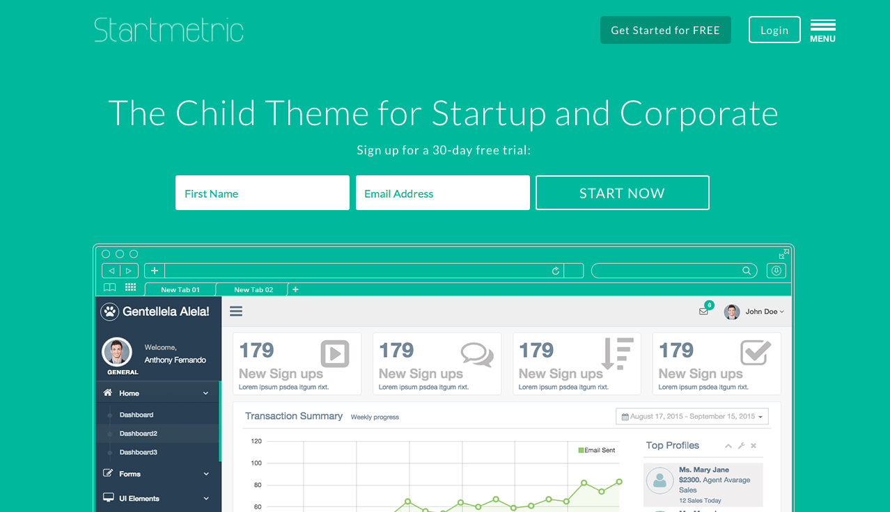 Creative Child Themes, Startmetric 1