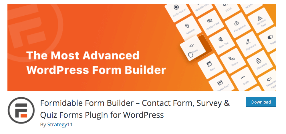 Formidable Forms Contact Form Plugin for WordPress
