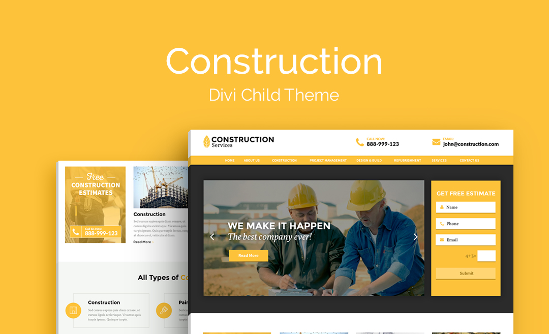 Construction | Premium Divi Child Theme | Aspen Grove Studios