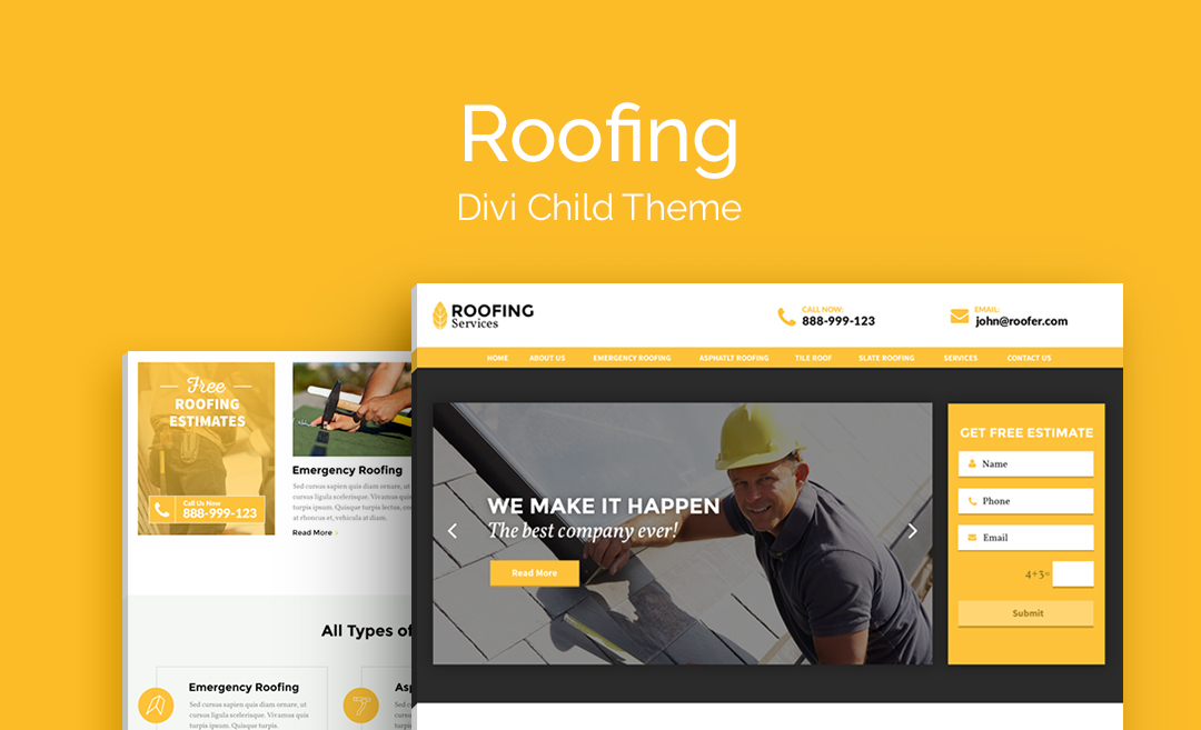 Roofing theme - Divi child theme ...