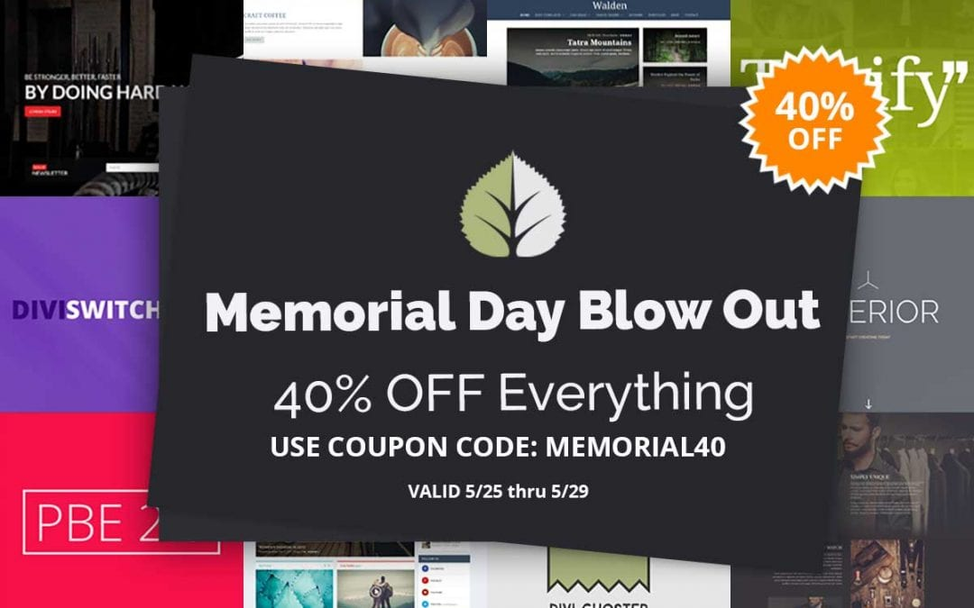 Memorial Day Sale: Save 40%
