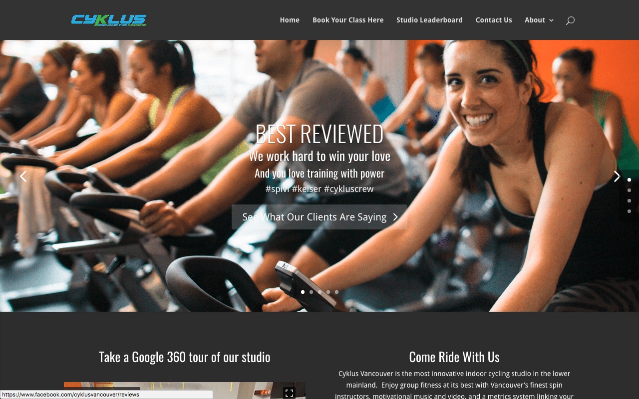 divi fitness website