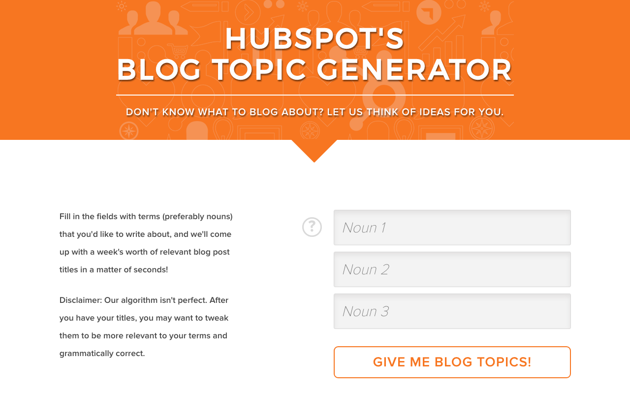 Aspen Grove Studios Best Writing Tools Hubspot Blog Topic Generator