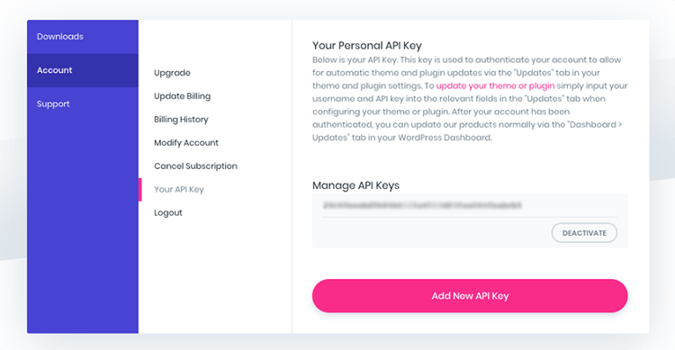 Elegant Themes API Key