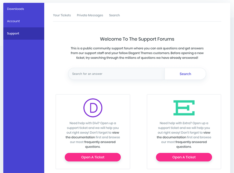 Elegant Themes Members Area Download Divi
