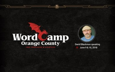Join David Blackmon at WordCamp Orange County 2018