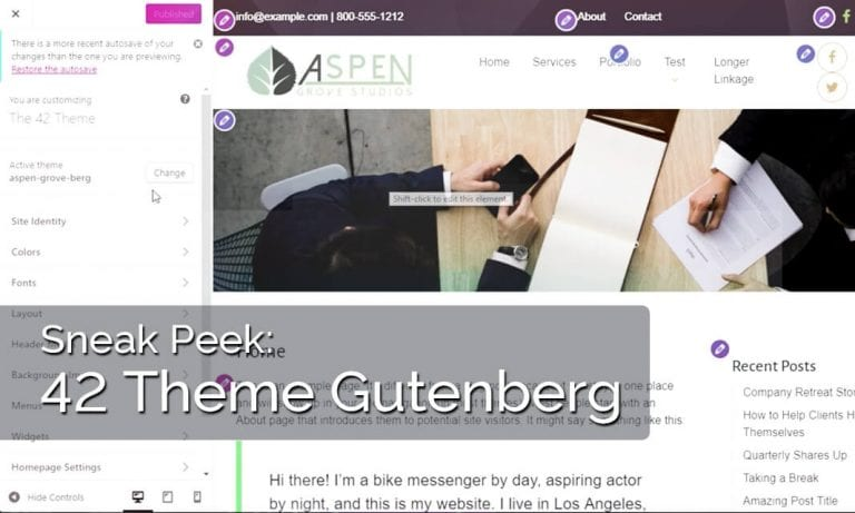 42 Theme for Gutenberg