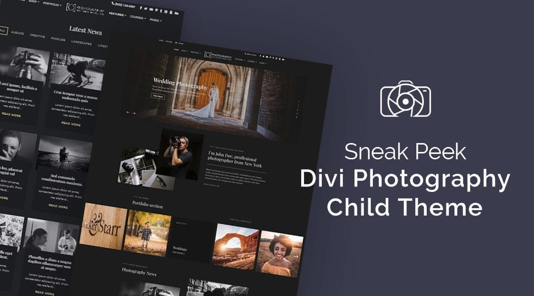 Divi Child Theme Sneak Peek: Photography