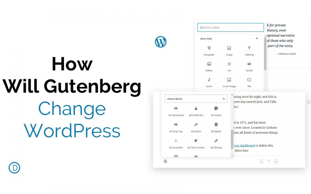 How Gutenberg Will Change WordPress