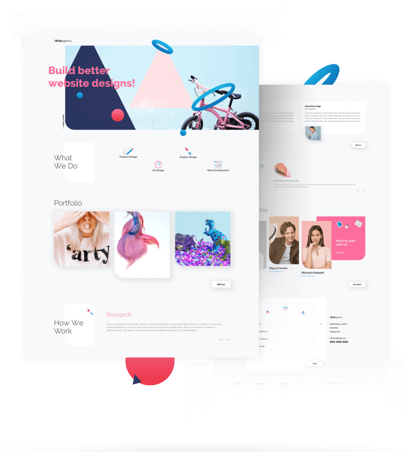 Free Divi Web Agency Layout