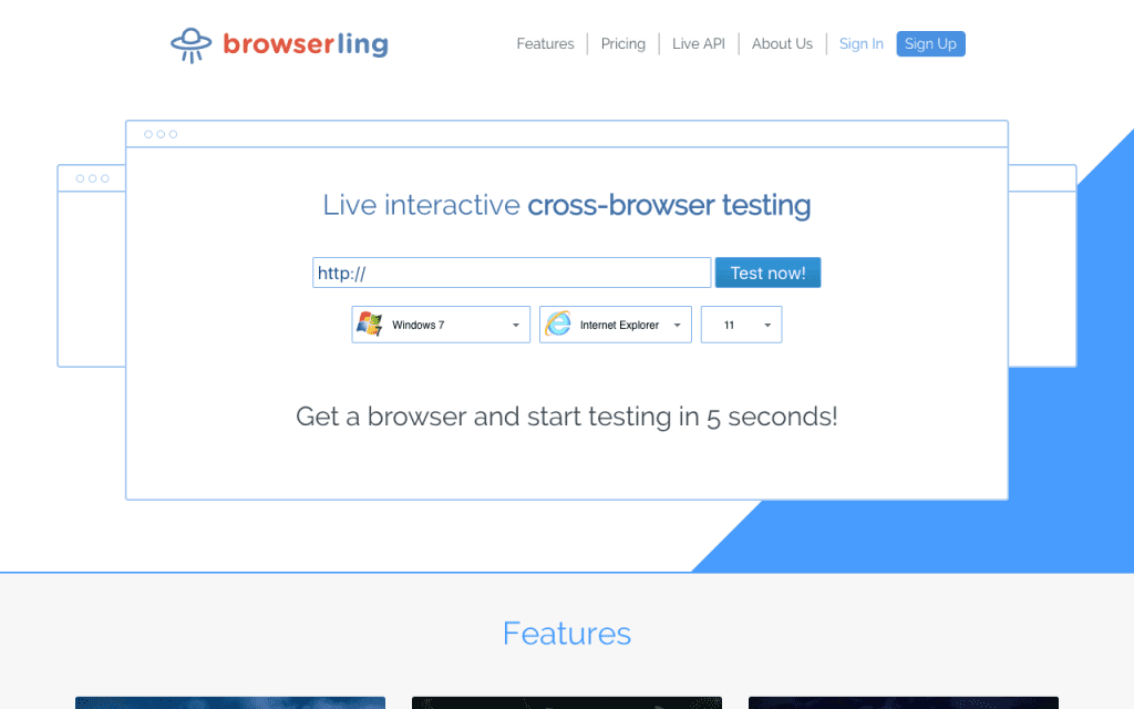 Broswerling homepage