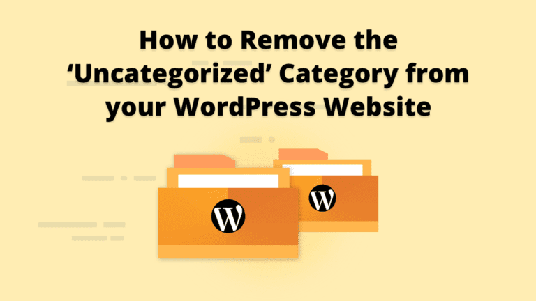 wordpress uncategorized category remove wordpress website