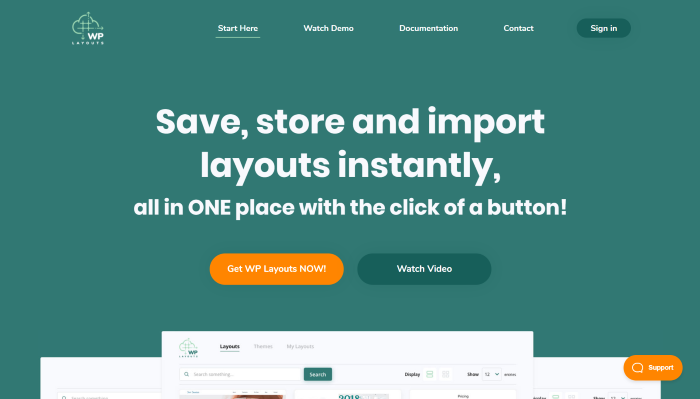 Get and Install WP Layouts