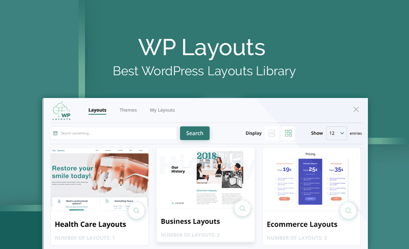 WP Layouts - Divi Layouts Library