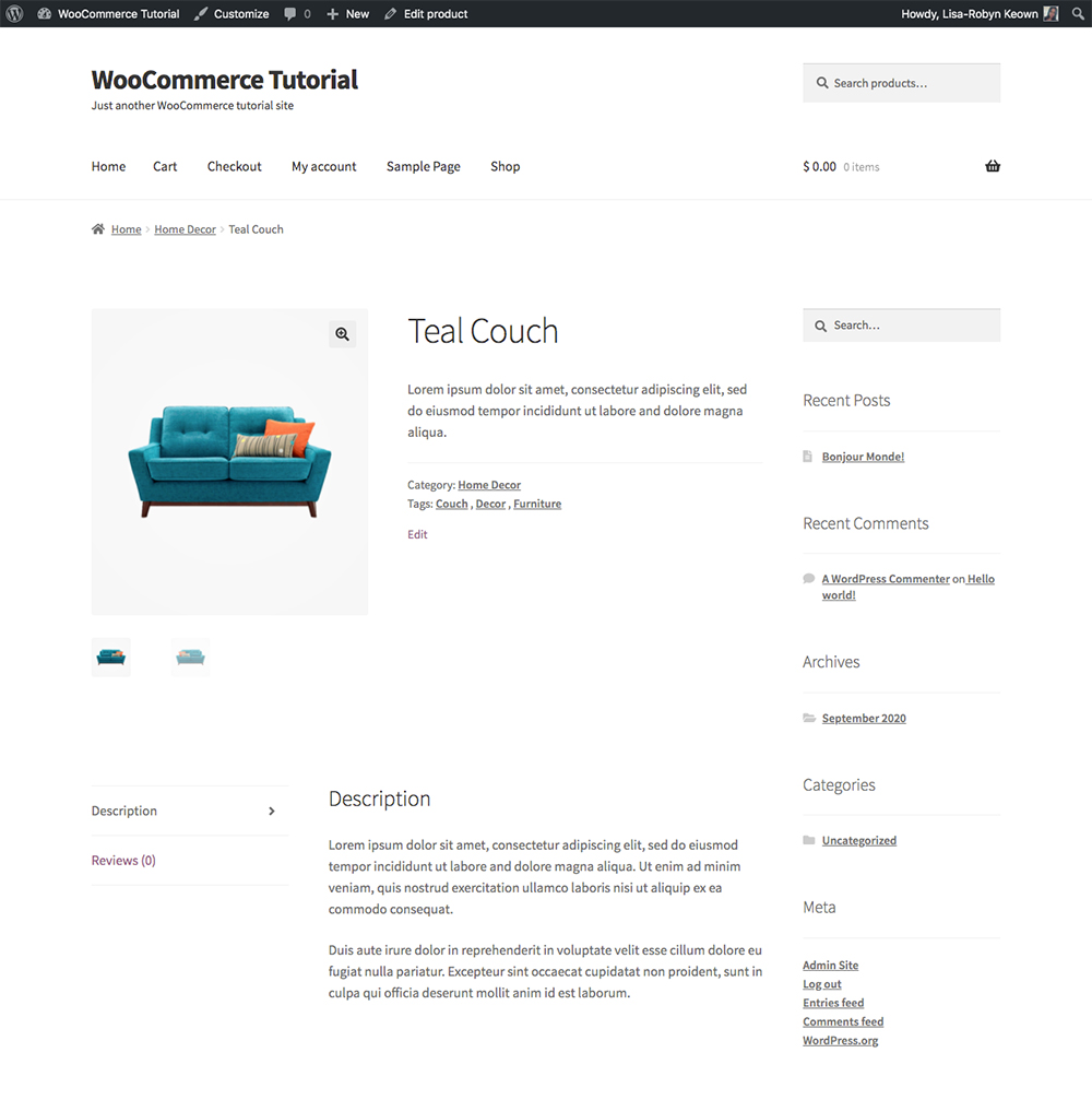 WooCommerce add new product preview