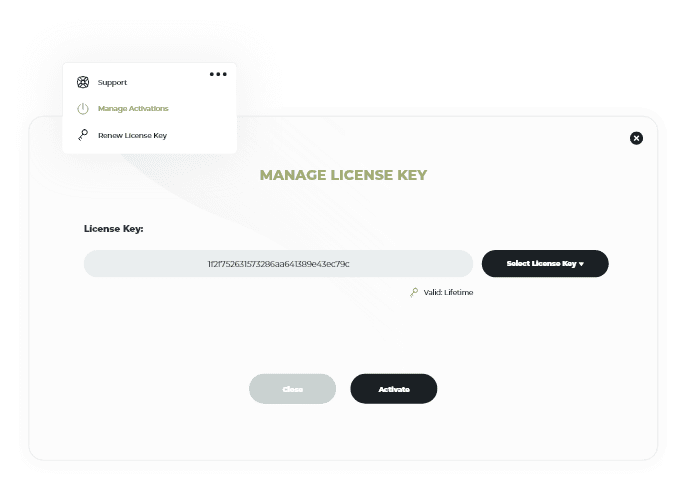 Activate and manage license keys